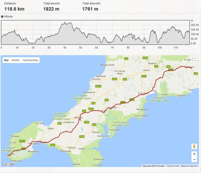 Day 1 - Lands End to Liskeard