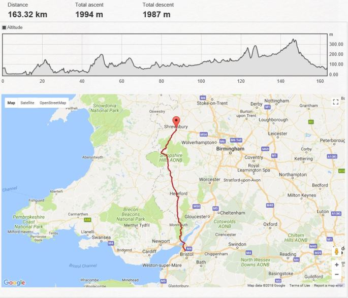 Day 4 - Chepstow to Shrewsbury
